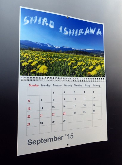 壁掛けカレンダー ボーダー(A3サイズ)中身